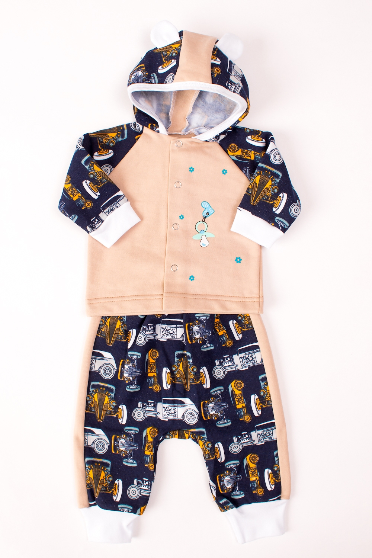 Комплект комплект одежды для мальчика котмаркот кофточка штанишки цвет голубой 2807 размер 62