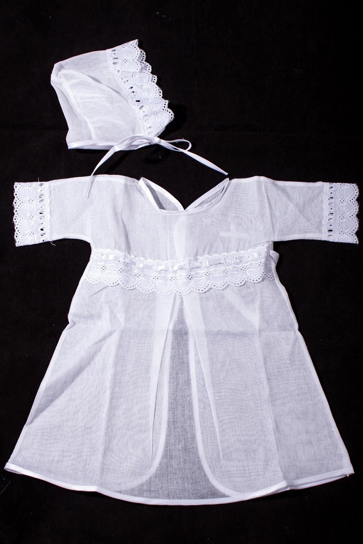 Крестильный наборКомплекты<br>Крестильный набор для новорожденного (рубашка+шапочка)  В изделии использованы цвета: белый  Размер соответствует росту ребенка.<br><br>По сезону: Всесезон<br>Размер : 62<br>Материал: Хлопок<br>Количество в наличии: 1