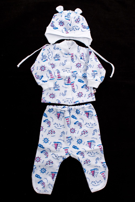 КомплектКостюмы<br>Хлопковый комплект для мальчика  Цвет: белый, мультицвет<br><br>По длине: Миди<br>По материалу: Трикотажные,Хлопковые<br>По образу: Повседневные<br>По рисунку: С принтом (печатью),Цветные<br>По силуэту: Полуприталенные<br>По форме: Брючные,Костюм двойка<br>Рукав: Длинный рукав<br>По сезону: Осень,Весна<br>По возрасту: Ясельные ( от 1 до 3 лет)<br>Размер : 68,74<br>Материал: Хлопок<br>Количество в наличии: 2