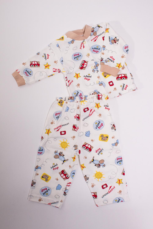 ПижамаКомплекты<br>Хлопковая пижама для ребенка  Цвет: белый, мультицвет  Размер соответствует росту ребенка<br><br>По сезону: Осень,Весна<br>Размер : 80<br>Материал: Трикотаж<br>Количество в наличии: 1