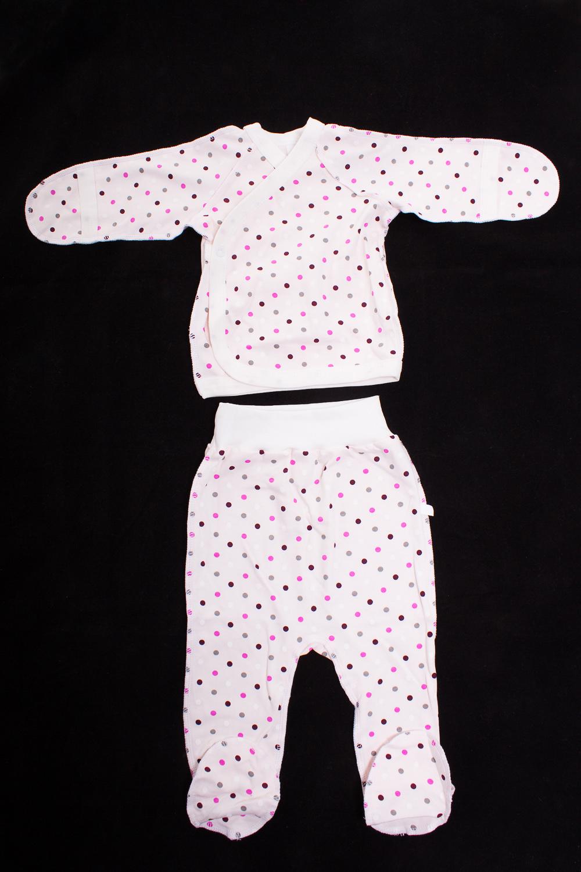 КомплектКомплекты<br>Хлопковый комплект для новорожденного  Цвет: белый, розовый, серый  Размер соответствует росту ребенка<br><br>По сезону: Всесезон<br>Размер: 50,62<br>Материал: 100% хлопок<br>Количество в наличии: 1