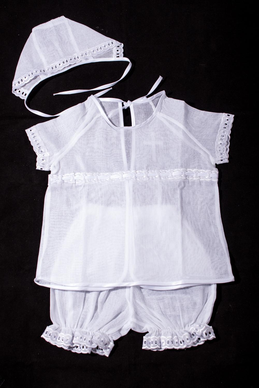 Крестильный наборКомплекты<br>Крестильный набор для новорожденного (рубашка+чепчик+штанишки)  В изделии использованы цвета: белый  Размер соответствует росту ребенка.<br><br>По сезону: Всесезон<br>Размер : 62<br>Материал: Хлопок<br>Количество в наличии: 1