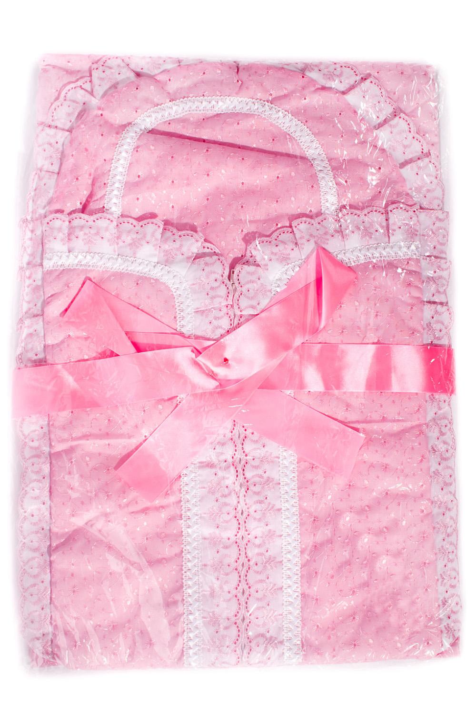 Комплект комплект для новорожденного трон плюс 7 предметов цвет белый розовый 3403 размер 50 0 1 месяц