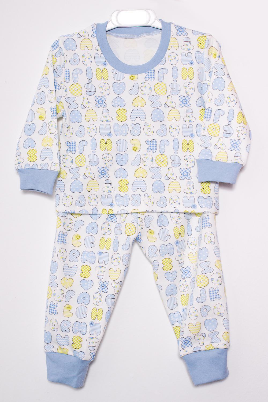 ПижамаПижамы<br>Хлопковая пижама для ребенка.В изделии использованы цвета: белый, голубой и др.Размер соответствует росту ребенка<br><br>Сезон: Всесезон<br>Размер : 104,80,98<br>Материал: Хлопок<br>Количество в наличии: 3