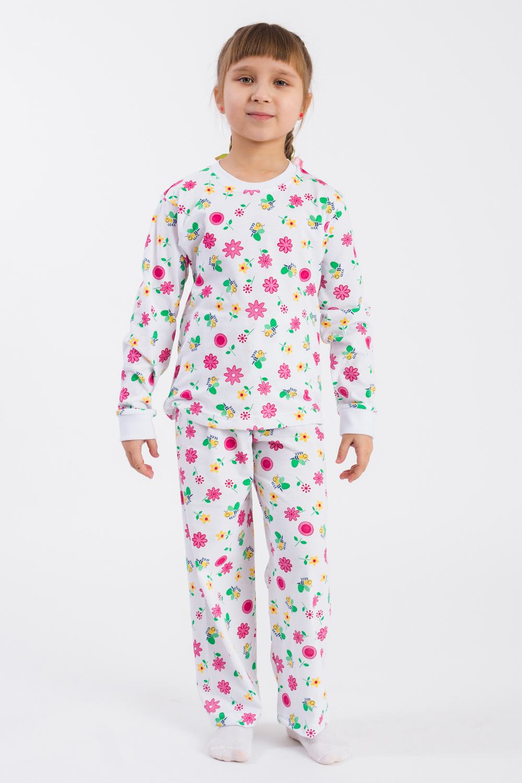 Пижама кофточка для девочки lucky child овечки цвет белый розовый светло зеленый 3 шт 30 146 размер 74 80 6 9 месяцев