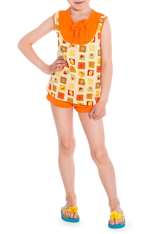 ПижамаПижамы<br>Хлопковая пижама для девочки.  Цвет: оранжевый, желтый и др.  Размер 74 соответствует росту 70-73 см Размер 80 соответствует росту 74-80 см Размер 86 соответствует росту 81-86 см Размер 92 соответствует росту 87-92 см Размер 98 соответствует росту 93-98 см Размер 104 соответствует росту 98-104 см Размер 110 соответствует росту 105-110 см Размер 116 соответствует росту 111-116 см Размер 122 соответствует росту 117-122 см Размер 128 соответствует росту 123-128 см Размер 134 соответствует росту 129-134 см Размер 140 соответствует росту 135-140 см Размер 146 соответствует росту 141-146 см Размер 152 соответствует росту 147-152 см Размер 158 соответствует росту 153-158 см Размер 164 соответствует росту 159-164 см<br><br>По сезону: Лето<br>Размер : 104,116<br>Материал: Хлопок<br>Количество в наличии: 2
