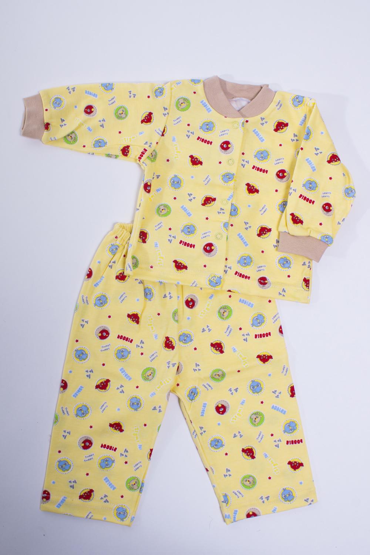ПижамаКомплекты<br>Хлопковая пижама для новорожденного  Цвет: желтый, мультицвет  Размер соответствует росту ребенка<br><br>По сезону: Осень,Весна<br>Размер: 68<br>Материал: 100% хлопок<br>Количество в наличии: 1