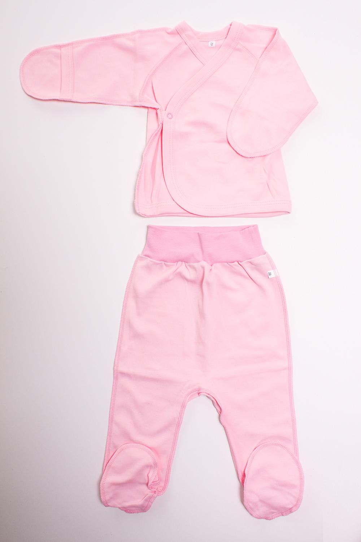 КомплектКомплекты<br>Хлопковый комплект для новорожденного  Цвет: розовый  Размер соответствует росту ребенка<br><br>По сезону: Всесезон<br>Размер : 50<br>Материал: Хлопок<br>Количество в наличии: 1