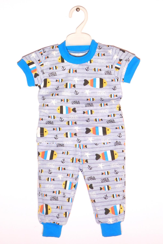 ПижамаПижамы<br>Хлопковая пижама для мальчика  В изделии использованы цвета: серый, голубой.  Размер 74 соответствует росту 70-73 см Размер 80 соответствует росту 74-80 см Размер 86 соответствует росту 81-86 см Размер 92 соответствует росту 87-92 см Размер 98 соответствует росту 93-98 см Размер 104 соответствует росту 98-104 см Размер 110 соответствует росту 105-110 см Размер 116 соответствует росту 111-116 см Размер 122 соответствует росту 117-122 см Размер 128 соответствует росту 123-128 см Размер 134 соответствует росту 129-134 см Размер 140 соответствует росту 135-140 см<br><br>По сезону: Всесезон<br>Размер : 74<br>Материал: Хлопок<br>Количество в наличии: 1