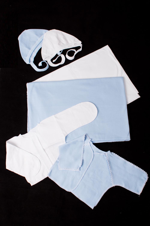КомплектКомплекты<br>Хлопковый комплект для новорожденного   В изделии использованы цвета: белый, голубой  Размер соответствует росту ребенка.<br><br>По сезону: Всесезон<br>Размер : 56<br>Материал: Хлопок<br>Количество в наличии: 2