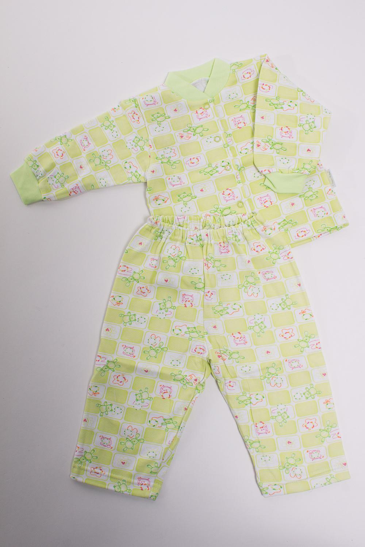 ПижамаКомплекты<br>Хлопковая пижама для ребенка  Цвет: зеленый, мультицвет  Размер соответствует росту ребенка<br><br>По сезону: Осень,Весна<br>Размер : 68<br>Материал: Трикотаж<br>Количество в наличии: 1