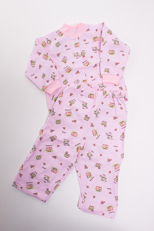 ПижамаКомплекты<br>Хлопковая пижама для новорожденного  Цвет: розовый, мультицвет  Размер соответствует росту ребенка<br><br>По сезону: Осень,Весна<br>Размер : 80<br>Материал: Трикотаж<br>Количество в наличии: 1