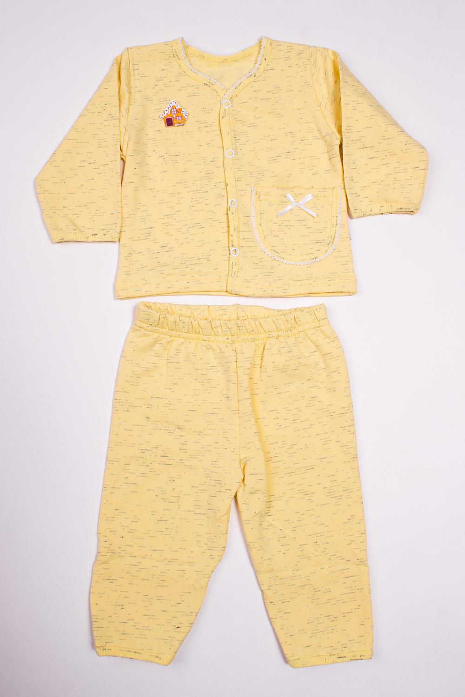 КомплектКомплекты<br>Трикотажный комплект для девочки.В изделии использованы цвета: желтый и др.Размер соответствует росту ребенка<br><br>Горловина: С- горловина<br>Рукав: Длинный рукав<br>Возраст: Ясельные ( от 1 до 3 лет)<br>Материал: Трикотажные,Хлопковые<br>Образ: Повседневные<br>Рисунок: Однотонные<br>Сезон: Весна,Всесезон,Зима,Лето,Осень<br>Силуэт: Полуприталенные<br>Стиль: Повседневный стиль<br>Элементы: С декором,С карманами<br>Размер : 56,62,74,80<br>Материал: Трикотаж<br>Количество в наличии: 4