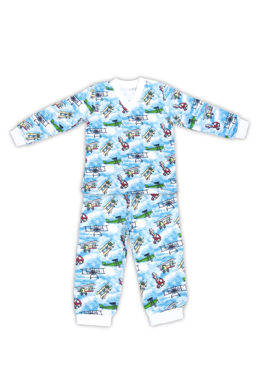 Пижама пижама для мальчика kitfox цвет голубой салатовый aw15 uat bst 056 размер 92 98