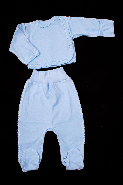 КомплектКомплекты<br>Хлопковый комплект для новорожденного.  В изделии использованы цвета: голубой  Размер соответствует росту ребенка<br><br>По сезону: Всесезон<br>Размер : 56,62<br>Материал: Хлопок<br>Количество в наличии: 3