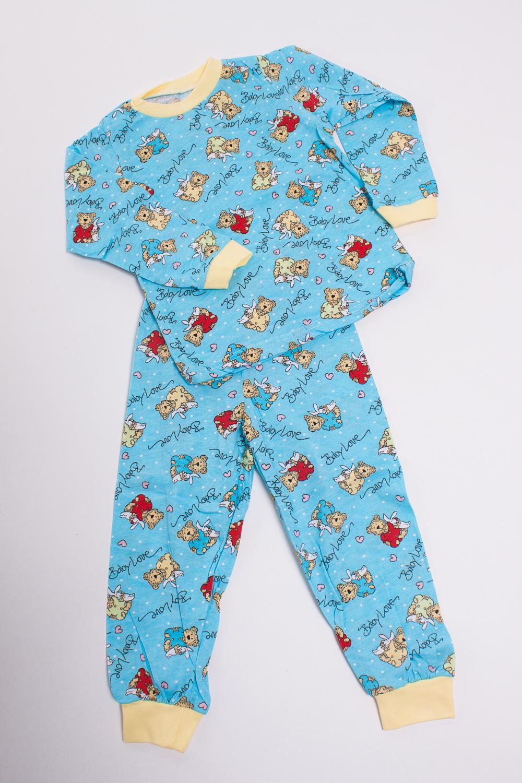 ПижамаПижамы<br>Хлопковая пижама для ребенка  Цвет: голубой, мультицвет  Размер соответствует росту ребенка<br><br>По сезону: Осень,Весна<br>Размер : 74,80,86<br>Материал: Трикотаж<br>Количество в наличии: 4