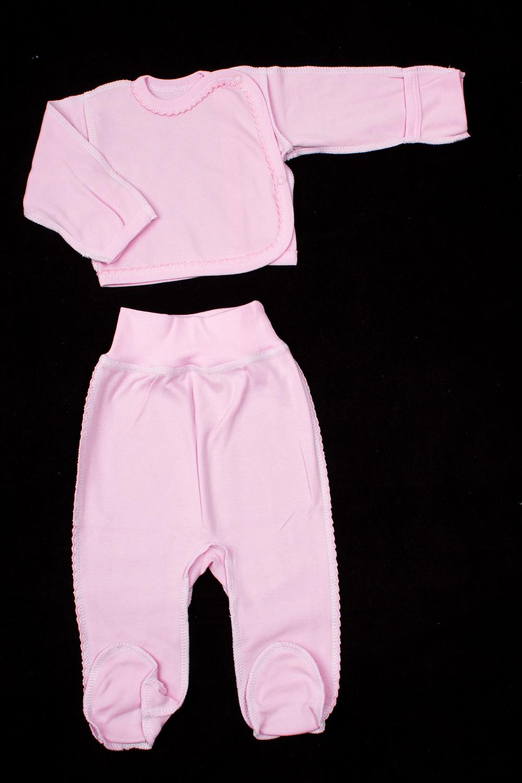 КомплектКомплекты<br>Хлопковый комплект для новорожденного.  В изделии использованы цвета: розовый  Размер соответствует росту ребенка<br><br>По сезону: Всесезон<br>Размер : 56,62<br>Материал: Хлопок<br>Количество в наличии: 2