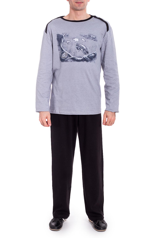 КомплектКомплекты и костюмы<br>Трикотажный комплект для мужчины (джемпер+брюки).  Ростовка изделия 182 см.   В изделии использованы цвета: серый, черный.<br><br>По сезону: Осень,Весна<br>Размер : 54<br>Материал: Трикотаж<br>Количество в наличии: 1