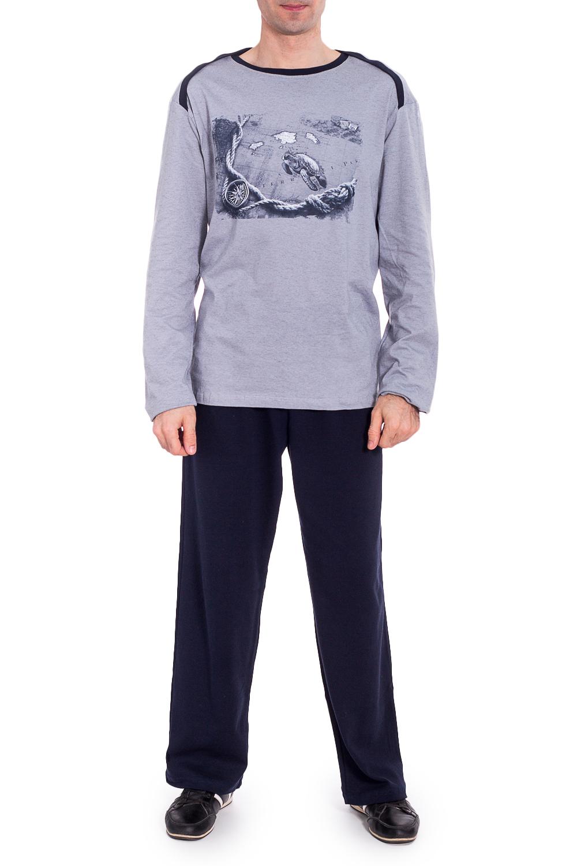 КомплектКомплекты и костюмы<br>Трикотажный комплект для мужчины (джемпер+брюки).  Ростовка изделия 188 см.   В изделии использованы цвета: серый, темно-синий.<br><br>По сезону: Осень,Весна<br>Размер : 56<br>Материал: Трикотаж<br>Количество в наличии: 2