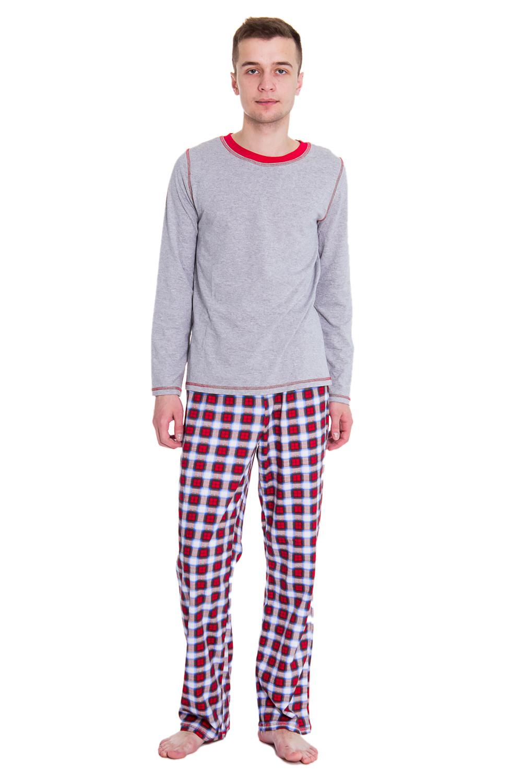 КомплектПижамы<br>Мужская хлопковая пижама. Отличный вариант для домашнего отдыха.  Цвет: серый, красный  Рост мужчины-фотомодели 182 см<br><br>По стилю: Молодежные,Повседневные,Возрастные<br>По материалу: Вискоза<br>По размеру: Большие размеры,Маленькие размеры<br>По рисунку: Цветные,Абстракция<br>По сезону: Весна,Осень<br>По силуэту: Полуприталенные<br>По элементам: Без рукавов<br>По форме: Платья<br>По длине: Миди<br>Горловина: С- горловина<br>Бретели: Широкие бретели<br>Размер: 46,48,50,52<br>Материал: 100% хлопок<br>Количество в наличии: 2