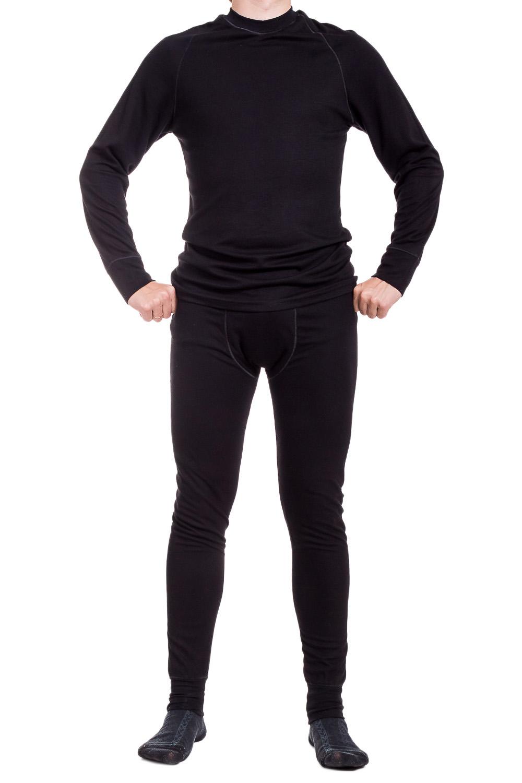 КомплектТермобелье<br>Удобный комплект из приятного материала. Отличный выбор для повседневного гардероба или активного отдыха. Комплект состоит из джемпера и кальсон.  Цвет: черный  Ростовка изделия 176 см.<br><br>По сезону: Зима<br>Размер : 50,52<br>Материал: Трикотаж<br>Количество в наличии: 5