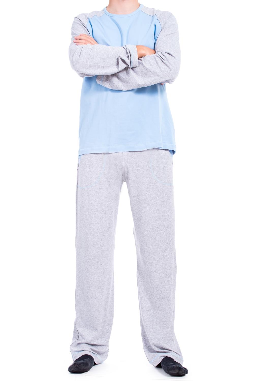 ПижамаПижамы<br>Хлопковая мужская пижама. Отличный выбор для домашнего отдыха.  В изделии использованы цвета: серый, голубой  Ростовка изделия 182-188 см.<br><br>По сезону: Всесезон<br>Размер : 58-60<br>Материал: Трикотаж<br>Количество в наличии: 2