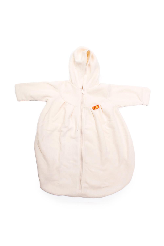 Конверт с рукавамиВерхняя одежда<br>Детский конверт с рукавами.  Размер: 74 см  Цвет: молочный<br><br>Размер : UNI<br>Материал: Флис<br>Количество в наличии: 1