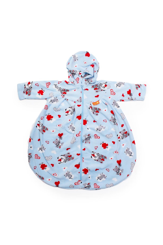 Конверт с рукавамиВерхняя одежда<br>Детский конверт с рукавами.  Размер: 74 см  В изделии использованы цвета: голубой, красный и др.<br><br>Размер : UNI<br>Материал: Флис<br>Количество в наличии: 1