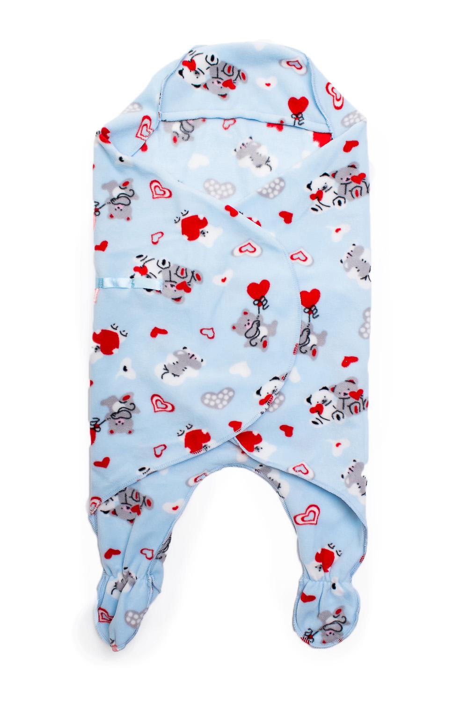 Конверт-одеялоОдеяла и подушки<br>Детское конверт - одеяло.  Размер: 74 см  В изделии использованы цвета: голубой, красный и др.<br><br>Размер : UNI<br>Материал: Флис<br>Количество в наличии: 1