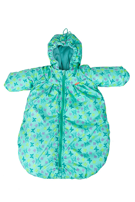 КонвертОдеяла и подушки<br>Утепленный конверт для новорожденных с ручками предназначен для самых маленьких – малышей ростом до 65-68 см (примерно до 6 месяцев). Он подарит ребенку ощущение почти домашнего уюта и защитит его от осенней сырости и зимней стужи (до -10С). Может быть использован в комплекте с другими конвертами. Позволяет очень быстро собраться на прогулку и обойтись без дополнительной теплой одежды. Продуман до мелочей. Очень прост в уходе.  Основные преимущества: -надежная защита от ветра, сырости и мороза до -10 градусов - наличие регулируемого капюшона - внутренний слой из мягкого флиса - продуманные детали - защитные рукава - молния до самого низа с внутренней планкой -можно использовать вместе с другими конвертами -приятные расцветки и симпатичные принты - простота в уходе  размер до 74см верх с в/о пропиткой подкладка флис (100% Пэ) утеплитель холлофайбер  В изделии использованы цвета: бирюзовый, сиреневый и др.<br><br>По сезону: Всесезон<br>Размер : UNI<br>Материал: Болонья<br>Количество в наличии: 1