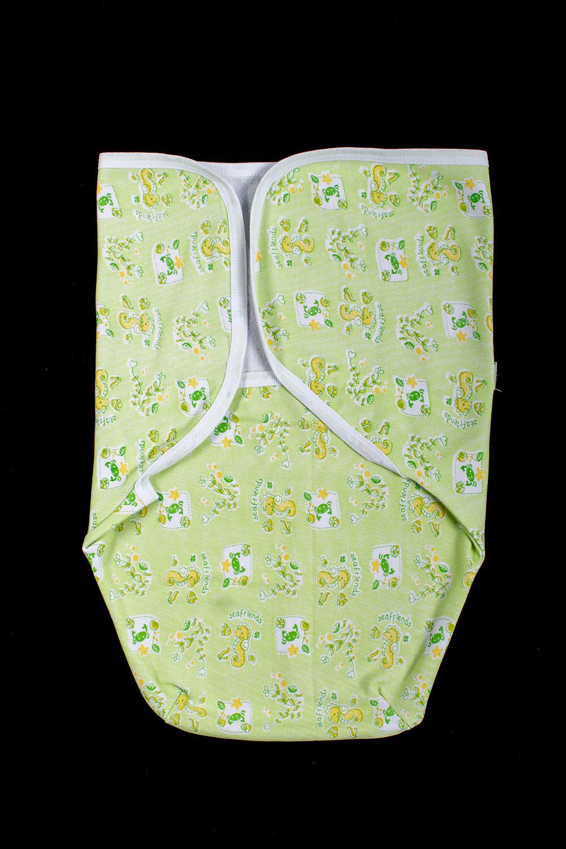 КонвертАксессуары<br>Конверт из мягкого хлопкового полотна. Завернуть малыша можно в три движения, очень помогает мамочке быстро уложить ребенка спать.  В изделии использованы цвета: зеленый др.  Размер соответствует росту ребенка<br><br>Размер : 68<br>Материал: Хлопок<br>Количество в наличии: 1