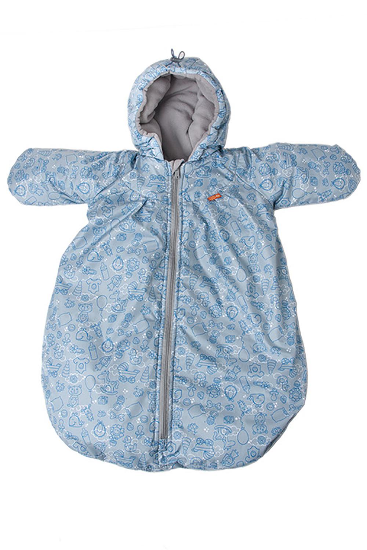 КонвертОдеяла и подушки<br>Утепленный конверт для новорожденных с ручками предназначен для самых маленьких – малышей ростом до 65-68 см (примерно до 6 месяцев). Он подарит ребенку ощущение почти домашнего уюта и защитит его от осенней сырости и зимней стужи (до -10С). Может быть использован в комплекте с другими конвертами. Позволяет очень быстро собраться на прогулку и обойтись без дополнительной теплой одежды. Продуман до мелочей. Очень прост в уходе.  Основные преимущества: -надежная защита от ветра, сырости и мороза до -10 градусов - наличие регулируемого капюшона - внутренний слой из мягкого флиса - продуманные детали - защитные рукава - молния до самого низа с внутренней планкой -можно использовать вместе с другими конвертами -приятные расцветки и симпатичные принты - простота в уходе  размер до 74см верх с в/о пропиткой подкладка флис (100% Пэ) утеплитель холлофайбер  В изделии использованы цвета: голубой, синий и др.<br><br>По сезону: Всесезон<br>Размер : UNI<br>Материал: Болонья<br>Количество в наличии: 1