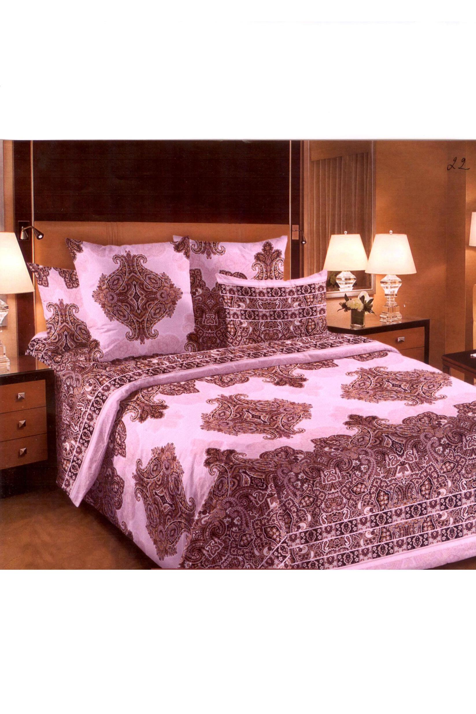 Комплект постельного белья пододеяльник из хлопка с рисунком ovélis