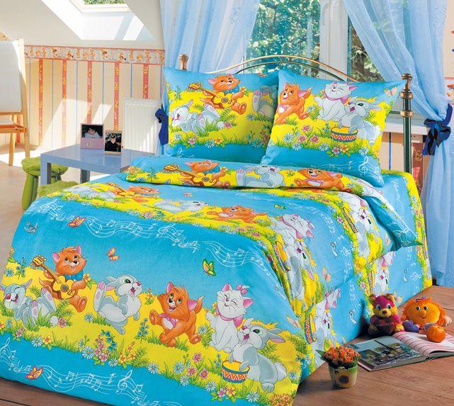 Комплект постельного бельяДля детей<br>Коллекция постельного белья «Для детей» изготовлена из 100% хлопка. Детское постельное белье - это мир сказки и детских любимых героев, переместившихся из мультфильмов на детскую кровать. Именно у нас, Ваш ребенок найдет самый желанный для себя комплект, который идеально впишется в интерьер детской комнаты. Все комплекты обладают повышенной износостойкостью. Даже после многих-многих стирок продолжают радовать своими яркими цветами.   Комплект полутораспального гарнитура: Пододеяльник 147х210 - 1шт. Простынь 150х210 - 1шт. Наволочка 70х70 - 2шт.  Комплект детский: Пододеяльник 110х150 – 1шт. Простынь 110х150 – 1шт. Наволочка 60х60 – 1шт.<br><br>По комплектации: Наволочка 2 шт.,Пододеяльник 1 шт.,Простынь 1 шт.<br>По материалу: Бязь,Хлопок<br>По размеру: Полутороспальные<br>По рисунку: Абстракция,Цветные<br>По способу закрывания: В нахлест<br>Размер : 1,5<br>Материал: Бязь набивная б/шва 100% хлопок<br>Количество в наличии: 6