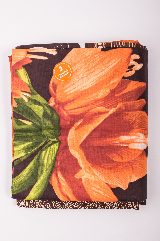 Комплект постельного бельяПостельное белье<br>Постельное белье изготовлено из бязи.  Бязь - это плотная хлопчатобумажная ткань, гигиеничная, обладающая низкой сменяемостью и легко стирающаяся. Изготавливается из 100% хлопка с использованием устойчивых безопасных красителей для нанесения рисунка на долгие годы, сохраняя яркость цвета.  Обращаем Ваше внимание на то, что расположение рисунка на комплекте не всегда полностью совпадает с рисунком на картинке Данное несоответствие не расценивается как брак или некондиция.  Цвет: коричневый, оранжевый, зеленый  Комплект полутораспального гарнитура: Пододеяльник 143х214 - 1шт. Простынь 150х214 - 1шт. Наволочка 70х70 - 2шт.  Комплект двуспального гарнитура: Пододеяльник 175х214 - 1шт. Простынь 180х214 - 1шт. Наволочка 70х70 - 2 шт.  Комплект двуспального гарнитура с Евро простыней: Пододеяльник 175х215 - 1шт. Простынь 220х240 - 1шт. Наволочка 70х70 - 2 шт.  Комплект Евро гарнитура:  Пододеяльник 200х220 - 1шт.  Простынь 220х240 - 1шт.  Наволочка 70х70 - 2 шт.  Комплект Дуэт гарнитура:  Пододеяльник 143х214 - 2 шт. Простынь 220х240 - 1шт.  Наволочка 70х70 - 2 шт.<br><br>По комплектации: Наволочка 2 шт.,Пододеяльник 1 шт.,Простыня 1 шт.,Пододеяльник 2 шт.<br>По материалу: Бязь,Хлопок<br>По рисунку: С принтом,Цветные,Цветочные<br>По способу закрывания: В нахлест<br>По размеру: Двуспальные с Евро-простыней,Дуэт,Евро<br>Размер : 2,0 Euro,Duet,Euro<br>Материал: Бязь набивная б/шва 100% хлопок<br>Количество в наличии: 5