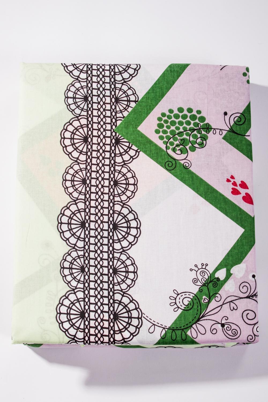 Комплект постельного бельяПостельное белье<br>Комплект постельного белья с 3D рисунком.  Бязь - это плотная хлопчатобумажная ткань, гигиеничная, обладающая низкой сменяемостью и легко стирающаяся. Изготавливается из 100% хлопка с использованием устойчивых безопасных красителей для нанесения рисунка на долгие годы, сохраняя яркость цвета.  Обращаем Ваше внимание на то, что расположение рисунка на комплекте не всегда полностью совпадает с рисунком на картинке Данное несоответствие не расценивается как брак или некондиция.  Цвет: белый, зеленый, розовый, коричневый  Комплект 1,5 сп. гарнитура:  Пододеяльник 150х215 – 1шт.  Простынь 150х220 - 1шт.  Наволочка 70х70 - 2шт.   Комплект двуспального гарнитура: Пододеяльник 180*215 - 1шт. Простынь 180х220 - 1шт. Наволочка 70х70 - 2шт.<br><br>По комплектации: Наволочка 2 шт.,Пододеяльник 1 шт.,Простыня 1 шт.<br>По материалу: Бязь,Хлопок<br>По размеру: Двуспальные<br>По рисунку: 3D,С принтом,Цветные<br>По способу закрывания: В нахлест<br>Размер : 2,0<br>Материал: Бязь набивная б/шва 100% хлопок<br>Количество в наличии: 1