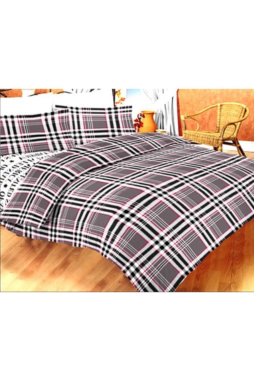 Комплект постельного бельяПостельное белье<br>Постельное белье изготовлено из перкали.  Плотность постельного белья - 160 гр/м2  Цвет: белый, серый, черный, розовый  Перкаль - это плотная хлопчатобумажная ткань, очень износостойкая и крепкая, хорошо хранит тепло, не выпуская его наружу, не пропускает воздух. Поэтому спать в такой постели мягко, тепло и уютно. Перкалевое белье не образует катышков, яркие цвета сохраняются на долго, хорошо впитывает влагу.  Комплект полутораспального гарнитура: Пододеяльник 145х215 - 1шт. Простынь 150х215 - 1шт. Наволочка 50х70 - 2шт.  Комплект двуспального гарнитура: Пододеяльник 175х215 - 1шт. Простынь 200х220 - 1шт. Наволочка 50х70 - 2 шт.  Комплект двуспального гарнитура с Евро простыней: Пододеяльник 175х215 - 1шт. Простынь 220х240 - 1шт. Наволочка 50х70 - 2 шт.  Комплект Евро гарнитура:  Пододеяльник 200х215 - 1шт.  Простынь 220х240 - 1шт.  Наволочка 50х70 - 2 шт.  Комплект Дуэт гарнитура:  Пододеяльник 145х215 - 2 шт. Простынь 220х240 - 1шт.  Наволочка 70х70 - 2 шт.<br><br>По комплектации: Наволочка 2 шт.,Пододеяльник 1 шт.,Простыня 1 шт.,Пододеяльник 2 шт.<br>По материалу: Перкаль,Хлопок<br>По размеру: Полутороспальные,Дуэт<br>По рисунку: В полоску,Геометрия,С принтом,Цветные,Цветочные<br>По способу закрывания: В нахлест<br>Размер : 1,5,Duet<br>Материал: Перкаль б/шва 100% хлопок<br>Количество в наличии: 2