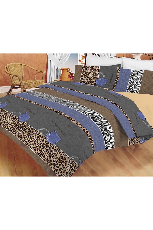 Комплект постельного бельяПостельное белье<br>Постельное белье изготовлено из перкали.  Плотность постельного белья - 160 гр/м2  Цвет: серый, бежевый, коричневый, голубой  Перкаль - это плотная хлопчатобумажная ткань, очень износостойкая и крепкая, хорошо хранит тепло, не выпуская его наружу, не пропускает воздух. Поэтому спать в такой постели мягко, тепло и уютно. Перкалевое белье не образует катышков, яркие цвета сохраняются на долго, хорошо впитывает влагу.  Комплект полутораспального гарнитура: Пододеяльник 145х215 - 1шт. Простынь 150х215 - 1шт. Наволочка 50х70 - 2шт.  Комплект двуспального гарнитура: Пододеяльник 175х215 - 1шт. Простынь 200х220 - 1шт. Наволочка 50х70 - 2 шт.  Комплект двуспального гарнитура с Евро простыней: Пододеяльник 175х215 - 1шт. Простынь 220х240 - 1шт. Наволочка 50х70 - 2 шт.  Комплект Евро гарнитура:  Пододеяльник 200х215 - 1шт.  Простынь 220х240 - 1шт.  Наволочка 50х70 - 2 шт.  Комплект Дуэт гарнитура:  Пододеяльник 145х215 - 2 шт. Простынь 220х240 - 1шт.  Наволочка 70х70 - 2 шт.<br><br>По комплектации: Наволочка 2 шт.,Пододеяльник 1 шт.,Простыня 1 шт.,Пододеяльник 2 шт.<br>По материалу: Перкаль,Хлопок<br>По размеру: Полутороспальные,Двуспальные,Дуэт<br>По рисунку: В полоску,Животные мотивы,Зебра,Леопард,С принтом,Цветные<br>По способу закрывания: В нахлест<br>Размер : 1,5,2,0,Duet<br>Материал: Перкаль б/шва 100% хлопок<br>Количество в наличии: 6