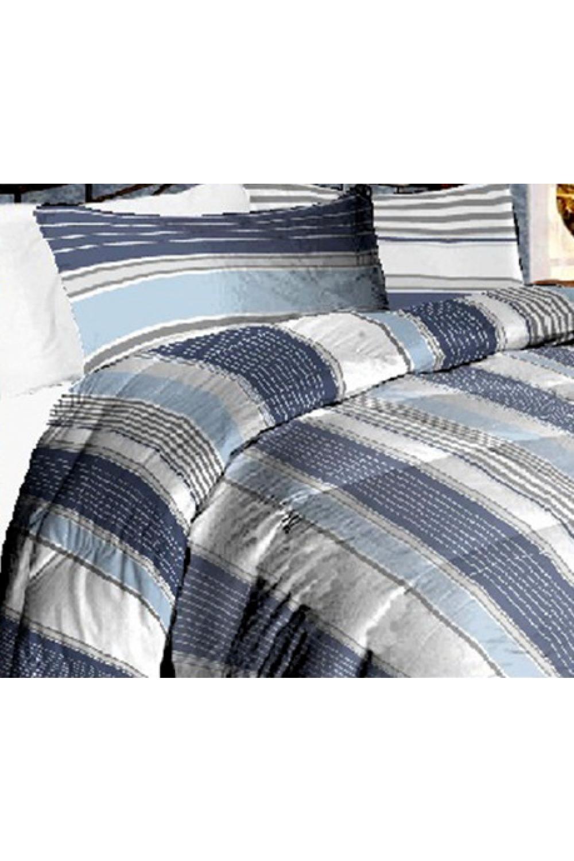 Комплект постельного бельяПостельное белье<br>Постельное белье изготовлено из перкали.  Плотность постельного белья - 160 гр/м2  Цвет: белый, серый, черный, розовый  Перкаль - это плотная хлопчатобумажная ткань, очень износостойкая и крепкая, хорошо хранит тепло, не выпуская его наружу, не пропускает воздух. Поэтому спать в такой постели мягко, тепло и уютно. Перкалевое белье не образует катышков, яркие цвета сохраняются на долго, хорошо впитывает влагу.  Комплект полутораспального гарнитура: Пододеяльник 145х215 - 1шт. Простынь 150х215 - 1шт. Наволочка 50х70 - 2шт.  Комплект двуспального гарнитура: Пододеяльник 175х215 - 1шт. Простынь 200х220 - 1шт. Наволочка 50х70 - 2 шт.  Комплект двуспального гарнитура с Евро простыней: Пододеяльник 175х215 - 1шт. Простынь 220х240 - 1шт. Наволочка 50х70 - 2 шт.  Комплект Евро гарнитура:  Пододеяльник 200х215 - 1шт.  Простынь 220х240 - 1шт.  Наволочка 50х70 - 2 шт.  Комплект Дуэт гарнитура:  Пододеяльник 145х215 - 2 шт. Простынь 220х240 - 1шт.  Наволочка 70х70 - 2 шт.<br><br>По комплектации: Наволочка 2 шт.,Пододеяльник 1 шт.,Простыня 1 шт.<br>По материалу: Перкаль,Хлопок<br>По размеру: Полутороспальные,Двуспальные<br>По рисунку: В полоску,С принтом,Цветные<br>По способу закрывания: В нахлест<br>Размер : 1,5<br>Материал: Перкаль б/шва 100% хлопок<br>Количество в наличии: 1