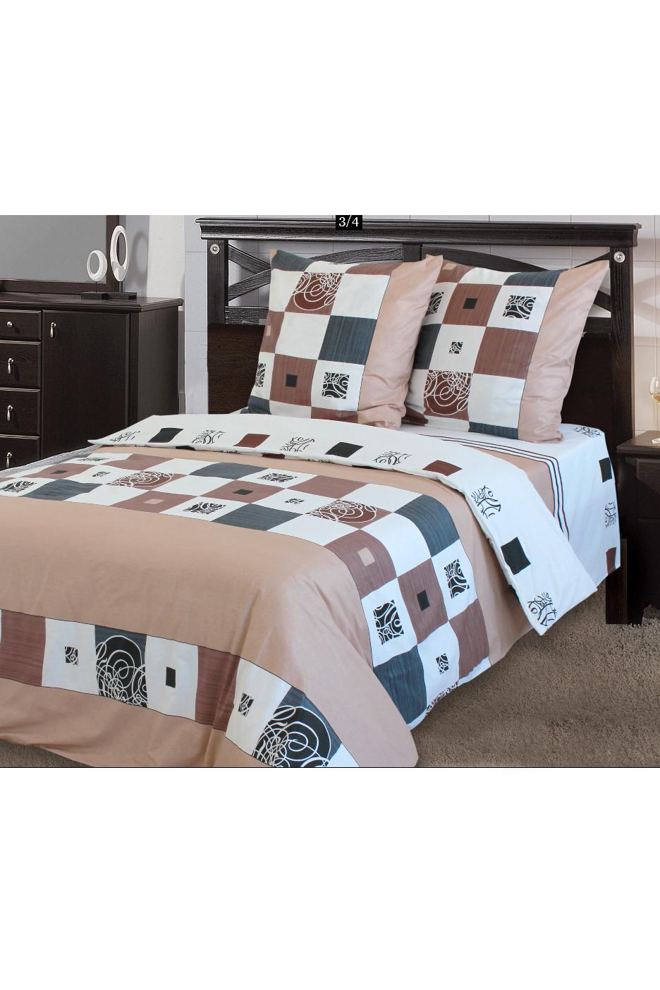 Комплект постельного бельяПостельное белье<br>Бязь - это плотная хлопчатобумажная ткань, гигиеничная, обладающая низкой сменяемостью и легко стирающаяся. Изготавливается из 100% хлопка с использованием устойчивых безопасных красителей для нанесения рисунка на долгие годы, сохраняя яркость цвета.  В изделии использованы цвета: бежевый, коричневый, серый и др.  Обращаем Ваше внимание на то, что расположение рисунка на комплекте не всегда полностью совпадает с рисунком на картинке Данное несоответствие не расценивается как брак или некондиция.  Комплект полутораспального гарнитура: Пододеяльник 150х215 - 1шт. Простынь 150х220 - 1шт. Наволочка 70х70 - 2шт.  Комплект двуспального гарнитура: Пододеяльник 180х220 - 1шт. Простынь 180х220 - 1шт. Наволочка 70х70 - 2 шт.  Комплект двуспального гарнитура с Евро простыней: Пододеяльник 180х220 - 1шт. Простынь 220х240 - 1шт. Наволочка 70х70 - 2 шт.  Комплект Евро гарнитура:  Пододеяльник 220х240 - 1шт.  Простынь 220х240 - 1шт.  Наволочка 70х70 - 2 шт.  Комплект Дуэт гарнитура:  Пододеяльник 150х220 - 2 шт. Простынь 220х240 - 1шт.  Наволочка 70х70 - 2 шт.<br><br>По комплектации: Наволочка 2 шт.,Пододеяльник 1 шт.,Простыня 1 шт.<br>По материалу: Бязь,Хлопок<br>По размеру: Полутороспальные<br>По рисунку: Геометрия,С принтом,Цветные<br>По способу закрывания: В нахлест<br>Размер : 1,5<br>Материал: Бязь набивная б/шва 100% хлопок<br>Количество в наличии: 1