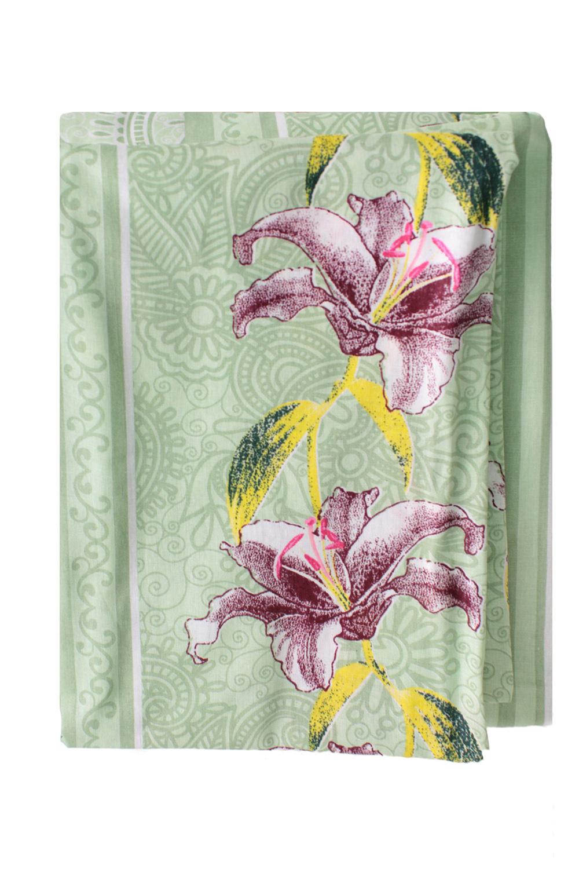 Комплект постельного бельяПостельное белье<br>Бязь - это плотная хлопчатобумажная ткань, гигиеничная, обладающая низкой сменяемостью и легко стирающаяся. Изготавливается из 100% хлопка с использованием устойчивых безопасных красителей для нанесения рисунка на долгие годы, сохраняя яркость цвета.  В изделии использованы цвета: зеленый, розовый и др.  Обращаем Ваше внимание на то, что расположение рисунка на комплекте не всегда полностью совпадает с рисунком на картинке Данное несоответствие не расценивается как брак или некондиция.  Комплект полутораспального гарнитура: Пододеяльник 150х215 - 1шт. Простынь 150х220 - 1шт. Наволочка 70х70 - 2шт.  Комплект двуспального гарнитура: Пододеяльник 180х220 - 1шт. Простынь 180х220 - 1шт. Наволочка 70х70 - 2 шт.  Комплект двуспального гарнитура с Евро простыней: Пододеяльник 180х220 - 1шт. Простынь 220х240 - 1шт. Наволочка 70х70 - 2 шт.  Комплект Евро гарнитура:  Пододеяльник 220х240 - 1шт.  Простынь 220х240 - 1шт.  Наволочка 70х70 - 2 шт.  Комплект Дуэт гарнитура:  Пододеяльник 150х220 - 2 шт. Простынь 220х240 - 1шт.  Наволочка 70х70 - 2 шт.<br><br>По комплектации: Наволочка 2 шт.,Пододеяльник 1 шт.,Простыня 1 шт.<br>По материалу: Бязь,Хлопок<br>По размеру: Полутороспальные<br>По рисунку: Растительные мотивы,С принтом,Цветные,Цветочные<br>По способу закрывания: В нахлест<br>Размер : 1,5<br>Материал: Бязь набивная б/шва 100% хлопок<br>Количество в наличии: 1