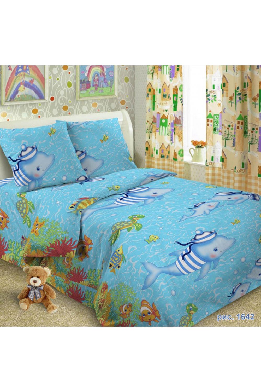 Комплект постельного бельяДля детей<br>Коллекция постельного белья Для детей изготовлена из 100% хлопка. Детское постельное белье - это мир сказки и детских любимых героев, переместившихся из мультфильмов на детскую кровать. Именно у нас, Ваш ребенок найдет самый желанный для себя комплект, который идеально впишется в интерьер детской комнаты. Все комплекты обладают повышенной износостойкостью. Даже после многих-многих стирок продолжают радовать своими яркими цветами.   Обращаем Ваше внимание на то, что расположение рисунка на комплекте не всегда полностью совпадает с рисунком на картинке Данное несоответствие не расценивается как брак или некондиция.  В изделии использованы цвета: голубой, желтый и др.  Комплект полутораспального гарнитура: Пододеяльник 150х215 - 1шт. Простынь 150х215 - 1шт. Наволочка 70х70 - 1шт.  Комплект гарнитура Ясли: Пододеяльник: 147*110 см 1 штука Простыня: 150*100 см 1 штука Наволочка: 60*60 см 1 штука<br><br>По комплектации: Наволочка 1 шт.,Пододеяльник 1 шт.,Простынь 1 шт.<br>По материалу: Поплин,Хлопок<br>По размеру: Полутороспальные<br>По рисунку: Мультипликация,С принтом,Цветные<br>По способу закрывания: В нахлест<br>Размер : 1,5<br>Материал: Поплин б/шва 100% хлопок<br>Количество в наличии: 1