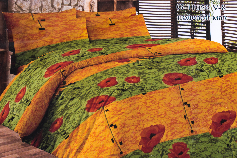 Комплект постельного бельяПостельное белье<br>Кретон - хлопчатобумажная ткань полотняного переплетения из предварительно окрашенной пряжи.  Цвет: оранжевый, зеленый, красный  Раскладка ткани на изделии может отличаться от картинки  Комплект полутораспального гарнитура: Пододеяльник 150х215 - 1шт. Простыня 150х215 - 1шт. Наволочка 70х70 - 2шт.  Комплект двуспального гарнитура: Пододеяльник 180х215 - 1шт. Простыня 180х215 - 1шт. Наволочка 70х70 - 2 шт.  Комплект двуспального гарнитура с европростыней: Пододеяльник 180х215 - 1шт. Простыня 220х240 - 1шт. Наволочка 70х70 - 2 шт.  Комплект Евро гарнитура:  Пододеяльник 220х240 - 1шт.  Простыня 220х240 - 1шт.  Наволочка 70х70 - 2 шт.  Комплект Дуэт гарнитура:  Пододеяльник 150х215 - 2шт.  Простыня 220х240 - 1шт.  Наволочка 70х70 - 2 шт.<br><br>По комплектации: Наволочка 2 шт.,Пододеяльник 1 шт.,Простыня 1 шт.<br>По материалу: Кретон,Хлопок<br>По размеру: Полутороспальные<br>По рисунку: Растительные мотивы,С принтом,Цветные,Цветочные<br>По способу закрывания: В нахлест<br>Размер : 1,5<br>Материал: Кретон<br>Количество в наличии: 1
