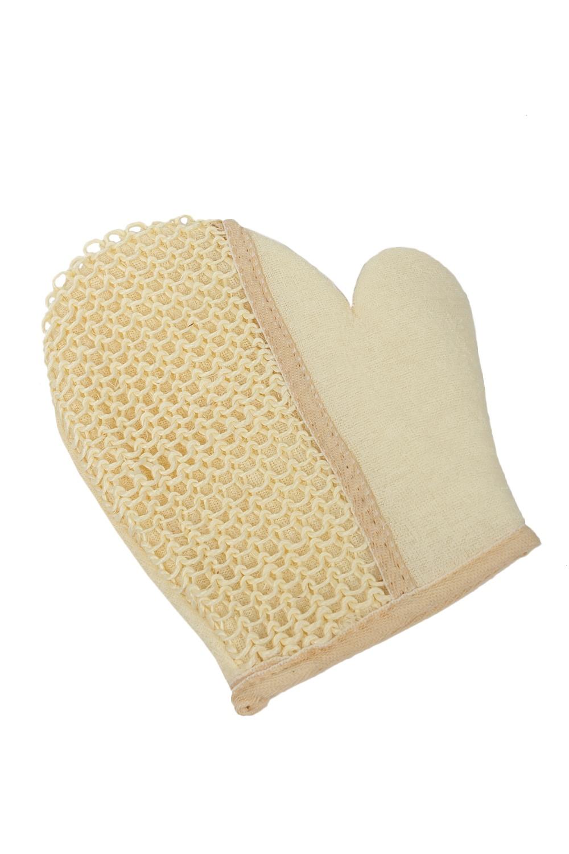Мочалка-варежка сизаль/ткань