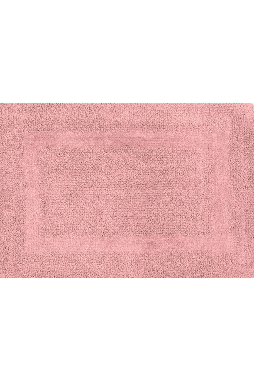 КоврикКоврики<br>Двухсторонний коврик для ног в ванную комнату. В изделии использованы цвета: розовый<br><br>Размер : 42,5*60<br>Материал: Хлопок<br>Количество в наличии: 1