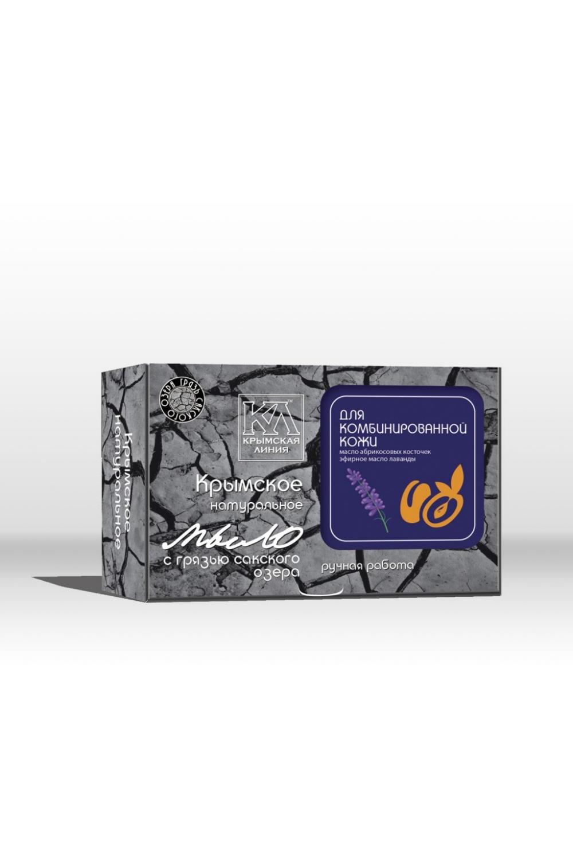 Мыло Для комбинированной кожиТвердое мыло<br>Мыло на основе лечебной грязи Сакского озера quot;Для комбинированной кожиquot; с маслами абрикосовых косточек, экстрактами алоэ и стевии.  Отлично очищает Вашу кожу, обладает тонизирующим, защитным и регенерирующим эффектом. Благодаря сбалансированному составу идеально подходит для ежедневного ухода.  Оригинальный рецепт натурального мыла на основе лечебной грязи Сакского озера, содержит уникальный комплекс природных веществ, дополняющих целебное действие сакской грязи. Натуральные масла, лекарственные травы, растительные экстракты, минеральные вещества, эфирные композиции тщательно подобраны для сбалансированного ухода за разными типами кожи.  Основной активный компонент натурального мыла - лечебная грязь Сакского озера. Это уникальное природное вещество, подаренное крымской природой, давно признано эффективным косметическим средством. Биологически активные вещества, содержащиеся в сакской грязи, глубоко проникают в кожу, насыщая ее необходимыми микро- и макроэлементами. Лечебная грязь улучшает обмен веществ в клетках, стимулирует тканевое дыхание, повышает иммунитет и действует как мощный антиоксидант, предупреждая старение. Сакская грязь делает кожу нежной и бархатистой, очищает и сужает поры, абсорбирует излишки кожного жира, удаляет омертвевшие клетки, снижает воспалительные процессы, способствует рассасыванию рубцов и шрамов, разглаживает морщины. Грязь Сакского озера дарит коже упругость, эластичность, здоровье и красоту    Мыло на основе лечебной грязи Сакского озера с маслами абрикосовых косточек, экстрактами алоэ и стевии отлично очищает Вашу кожу, обладает тонизирующим, защитным и регенерирующим эффектом. Благодаря сбалансированному составу идеально подходит для ежедневного ухода.    Состав: омыленные растительные масла (кокосовое, оливковое, пальмовое, рициновое); вода подготовленная, грязь Сакского озера, масло облепиховое, масло абрикосовых косточек, эфирные масла: лаванды, мяты, розмарина, экстракты алоэ и