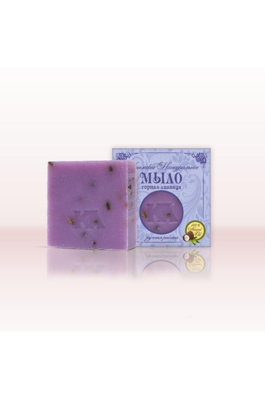 Мыло натуральное Горная лавандаТвердое мыло<br>Мыло Крымская линия Горная Лаванда  Это мыло с тонким, успокаивающим ароматом эфирных масел горной лаванды и розмарина поможет при бессоннице, депрессии, стрессе.Подходит для большинства типов и состояний кожи.  Мыло с тонким, успокаивающим ароматом эфирных масел горной лаванды и розмарина поможет при бессоннице, депрессии, стрессе. Цветки лаванды мягко массируют вашу кожу, стимулируя рост новых клеток, оказывают балансирующее действие. Подходит для большинства типов и состояний кожи.   Состав: омыленные масла (кокосовое, оливковое, пальмовое, касторовое); вода подготовленная, масло облепиховое, цветы лаванды, масло виноградных косточек, масло Ши, кармин, эфирные масла лаванды, герани, чайной розы.  Масса 92г (+/-5г)  Срок годности 24 мес.  Дата изготовления  12.01.2016г.  Противопоказания: индивидуальная непереносимость входящих в состав компонентов.  Меры предосторожности: при попадании в глаза промыть водой.  Условия хранения: хранить при температуре не ниже -5 С и относительной влажности воздуха не выше 75%. Оберегать от солнечных лучей.<br><br>Тип аромата: Древесный,Цветочный<br>Тип кожи: Жирная кожа,Зрелая кожа,Комбинированная кожа,Нормальная кожа,Проблемная кожа,Сухая кожа,Чувствительная кожа<br>Эффект: Успокаивающий<br>Размер : UNI<br>Количество в наличии: 17