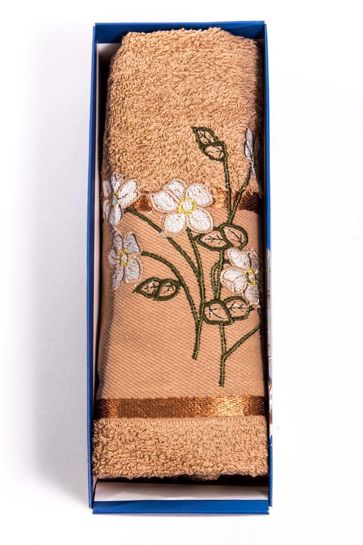 Махровое полотенцеПолотенца<br>Мягкое махровое полотенце с вышивкой  Цвет: бежевый<br><br>Отделка края: Отделка строчкой<br>По материалу: Махровые,Хлопковые<br>По рисунку: Растительные мотивы,С принтом (печатью)<br>Размер : 50*90<br>Материал: Махровое полотно<br>Количество в наличии: 5