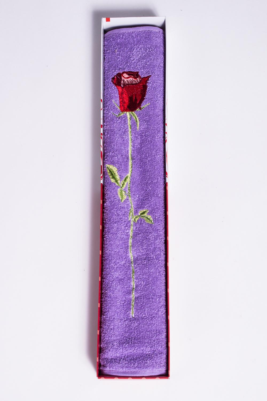 Махровое полотенцеПолотенца<br>Мягкое махровое полотенце с вышивкой  Цвет: фиолетовый<br><br>Отделка края: Отделка строчкой<br>По материалу: Махровые,Хлопковые<br>По рисунку: Однотонные<br>Размер : 50*90<br>Материал: Махровое полотно<br>Количество в наличии: 5