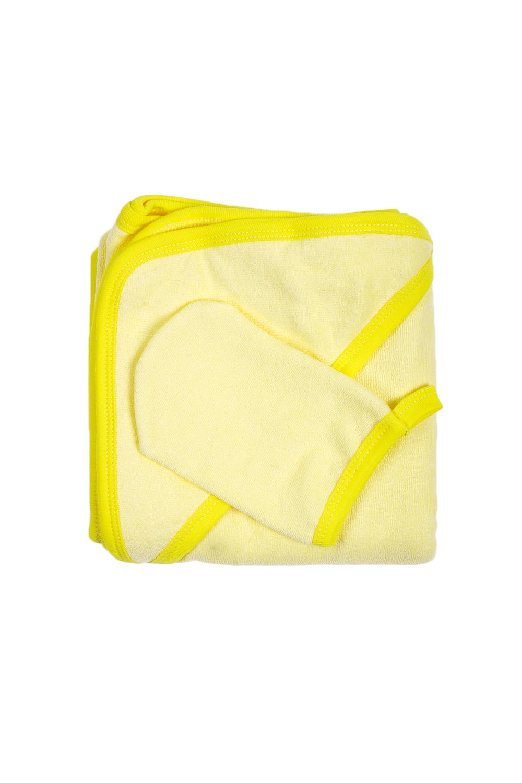 Комплект для купанияДля ванной<br>Махровый комплект для купания новорожденного.  Комплект состоит из: полотенце уголок 1,0*1,0 рукавичка  В изделии использованы цвета: желтый<br><br>По сезону: Всесезон<br>Размер : UNI<br>Материал: Махровое полотно<br>Количество в наличии: 3